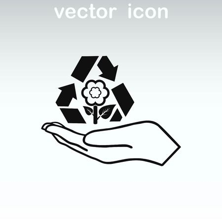Throwing trash, recycle, pollution, recycling and eco icon. The concept of ecology problem. Illustration