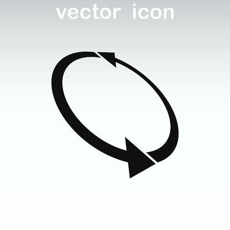 score under: Arrow indicates the direction  icon, vector illustration