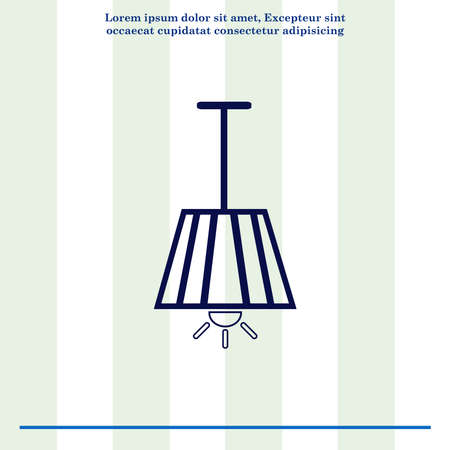 decoration design: Home appliances icon. Table lamp, floor lamp, chandelier icon. Vector illustration. Stock Photo