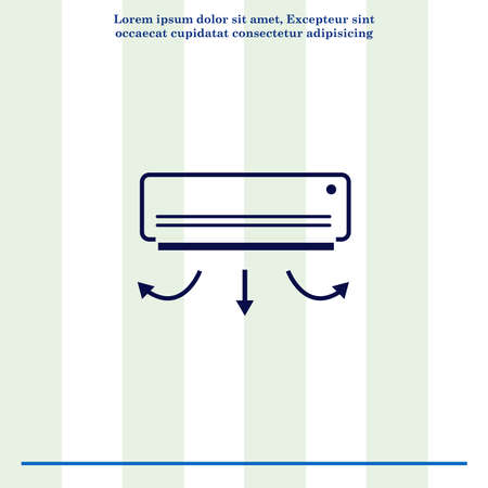 coolness: Home appliances icon. Air Conditioning icon. Vector illustration. Split System. Stock Photo