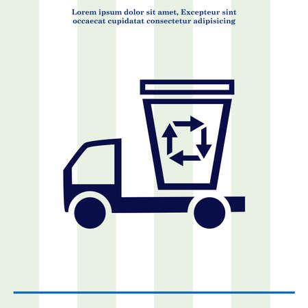 away: Throw away the trash icon, recycle icon Stock Photo