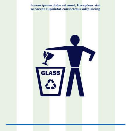 throw: Throw away the trash icon, recycle icon Stock Photo