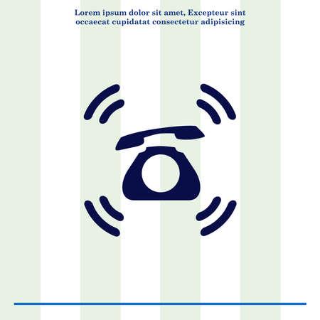 handset: The handset, phone icon , vector illustration. Stock Photo