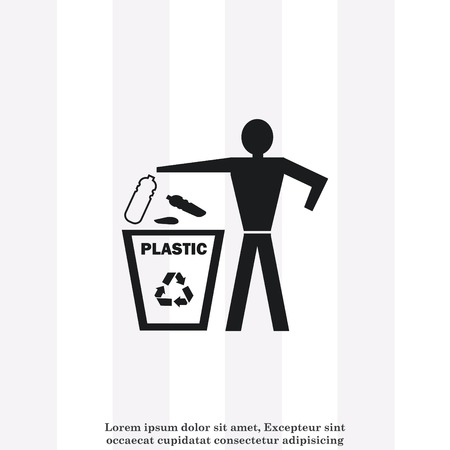throw: Throw away the trash icon, recycle icon Illustration