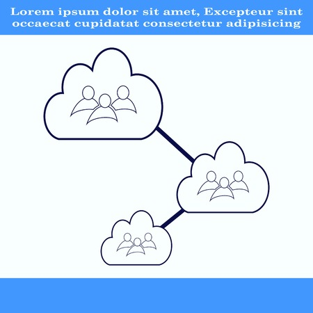 group hug: Group of people icon, Friends icon,  vector illustration