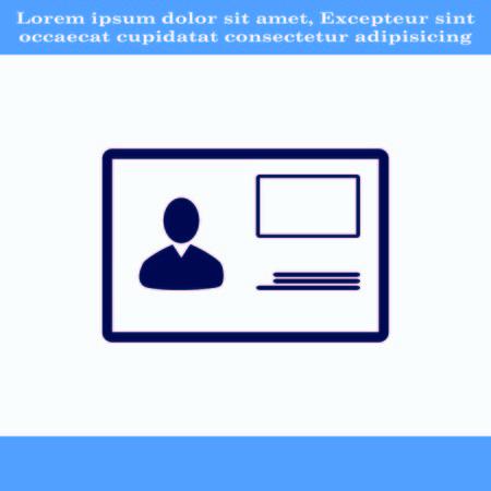 snaps: Document determining identity icon. Flat Vector illustration