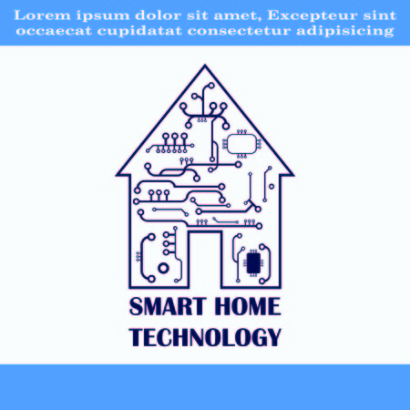 house building: Smart home in the cloud concept symbol vector illustration