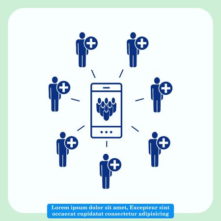 Group of people icon, Friends icon,  vector illustration