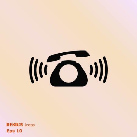 handset: The handset, phone icon , vector illustration. Illustration