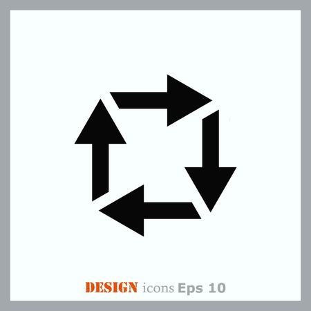 up marker: Arrow indicates the direction  icon, vector illustration. Flat design style
