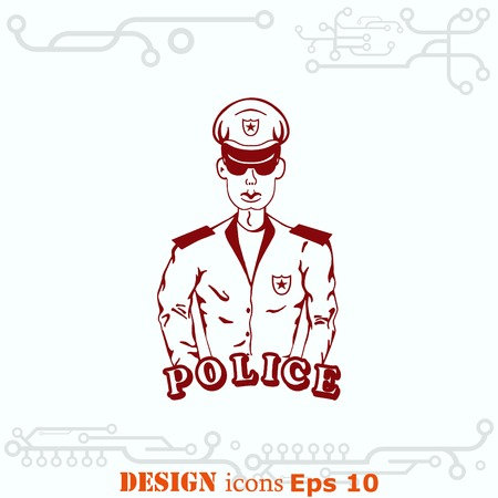squad: Vector illustration of isolated modern police icon.