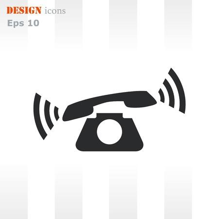 The handset, phone icon , vector illustration. Illustration