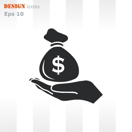 Money icon, Finance Icon, vector illustration. Flat design style. Illustration