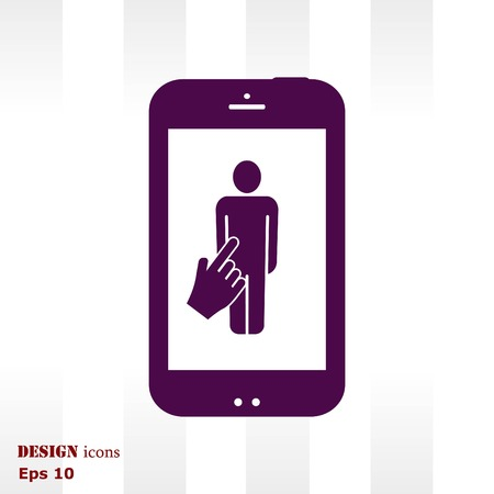 answers: The handset, phone icon , vector illustration. Illustration