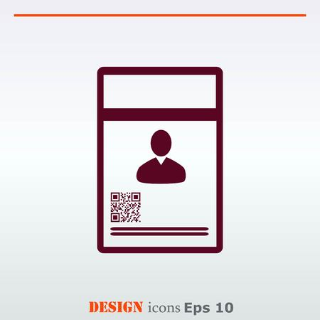 snapping: Document determining identity icon. Flat Vector illustration