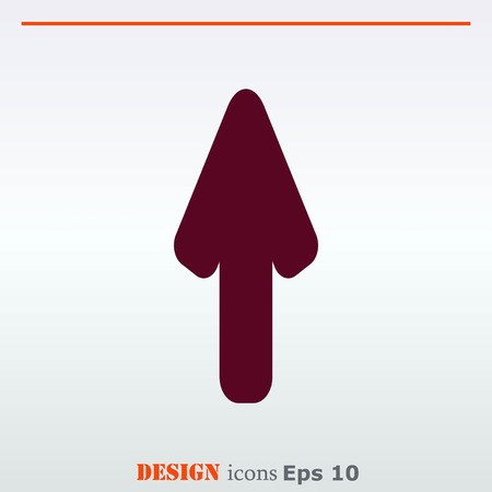 up marker: Arrow indicates the direction  icon, vector illustration