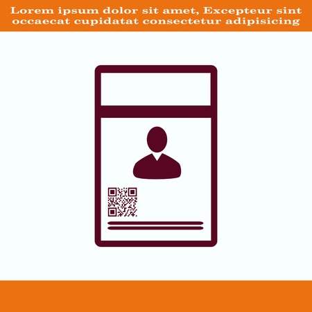 latch: Document determining identity icon. Flat Vector illustration
