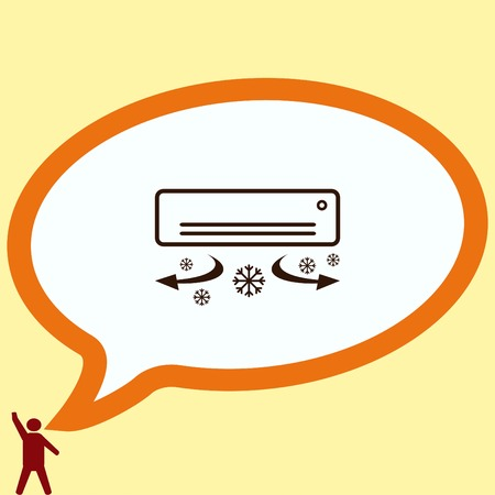 Home appliances icon. Air Conditioning icon. Vector illustration. Split System. Illustration