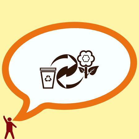 away: Throw away the trash icon, recycle icon Illustration