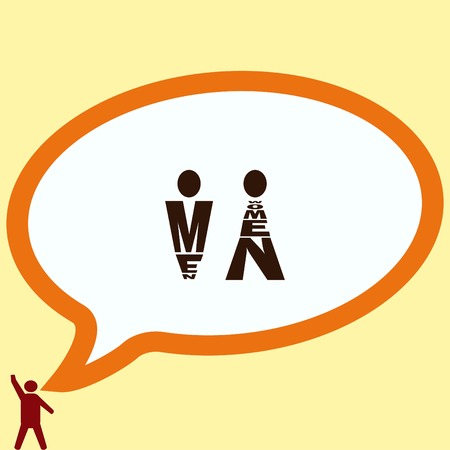 general: Restroom icon, vector illustration