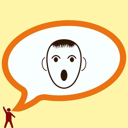 irritated: Angry little boy Icon.
