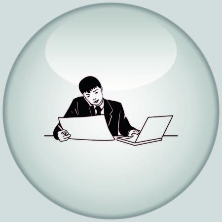 multi tasking: Multi-tasking. Business concept illustration.