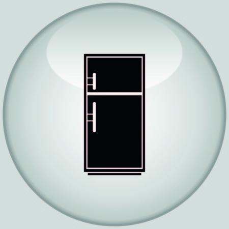 coolness: Home appliances icon. Refrigerator icon. Vector illustration. Kitchenware. Illustration