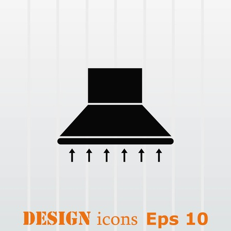 stainless: Home appliances icon. Kitchen hood icon. Vector illustration. Illustration