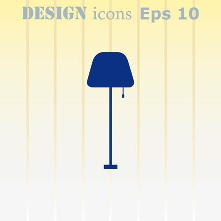 floor lamp: Home appliances icon. Table lamp, floor lamp, chandelier icon. Vector illustration. Illustration