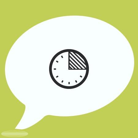Clock Icon, vector illustration