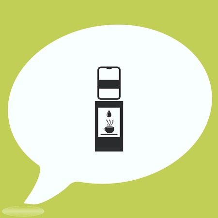 water cooler: Water Cooler icon, vector illustration. Illustration