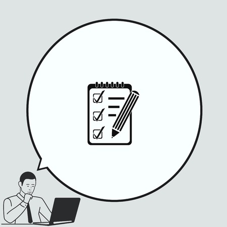 notebook icon: Notebook icon, vector illustration.