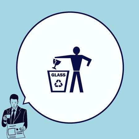 Gooi het prullenbakpictogram weg en recycle het pictogram