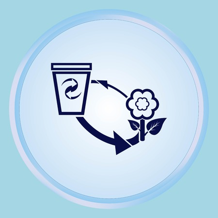 Throw away the trash icon, recycle icon Illustration