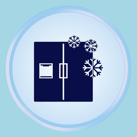 refrigeration: Home appliances icon. Refrigerator icon. Vector illustration. Kitchenware. Illustration