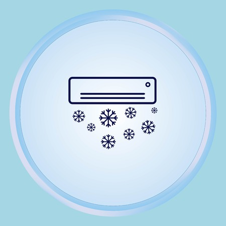 vent: Home appliances icon. Air Conditioning icon. Vector illustration. Split System. Illustration