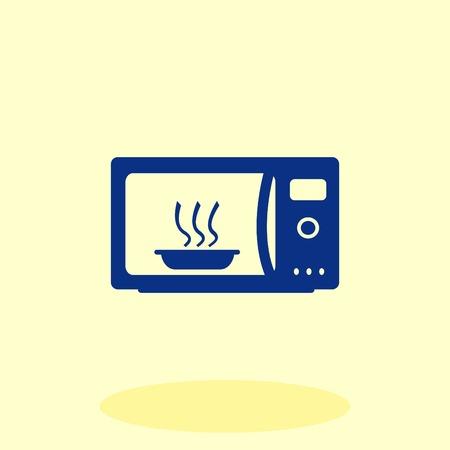 Haushaltsgeräte-Symbol . Mikrowelle Symbol . Vektor-Illustration . Geschirr
