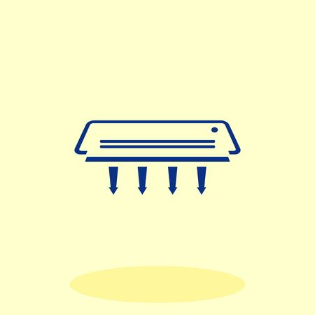 split: Home appliances icon. Air Conditioning icon. Vector illustration. Split System. Illustration