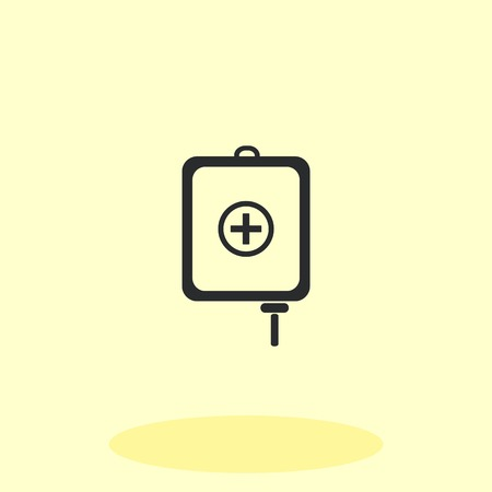 donor blood type: Blood donation icon, vector illustration. Flat design style. The container transfusion icon.