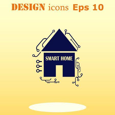 administrativo: casa inteligente en la ilustración de concepto de nube símbolo vector