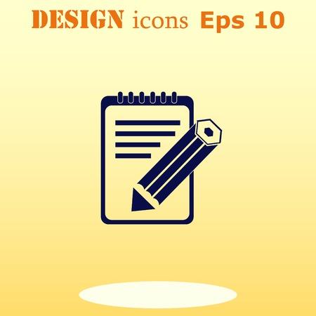 icono de bloc de notas, ilustración vectorial.