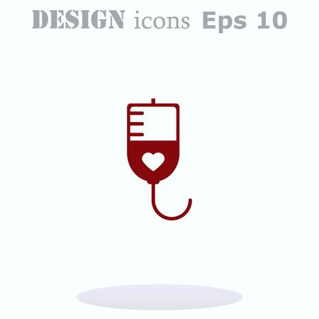 donating: Blood donation icon, vector illustration. Flat design style. The container transfusion icon.
