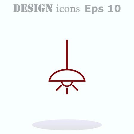 floor lamp: Home appliances icon. Table lamp, floor lamp, chandelier icon. Vector illustration. Illustration