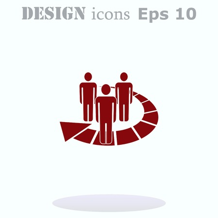 contacts group: Group of people icon, Friends icon,  vector illustration