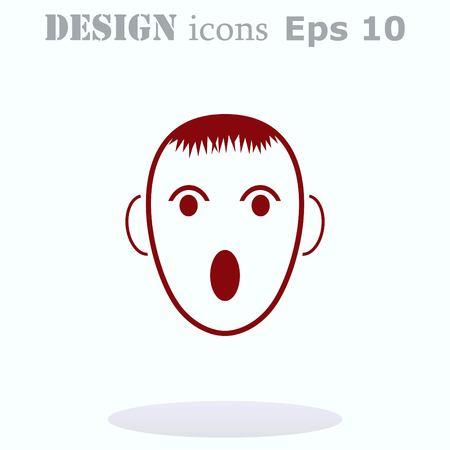 ominous: Angry little boy Icon.