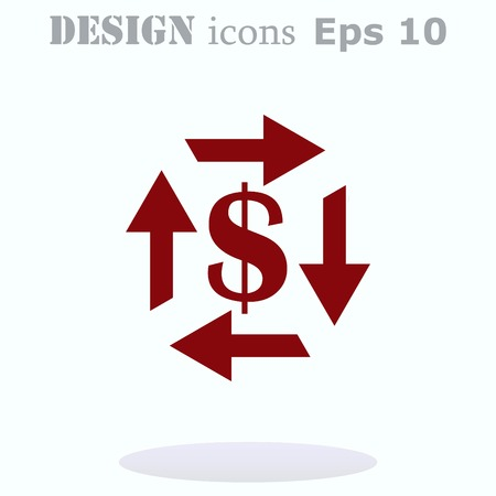 bribe: Money icon, Finance Icon, vector illustration. Flat design style. Illustration