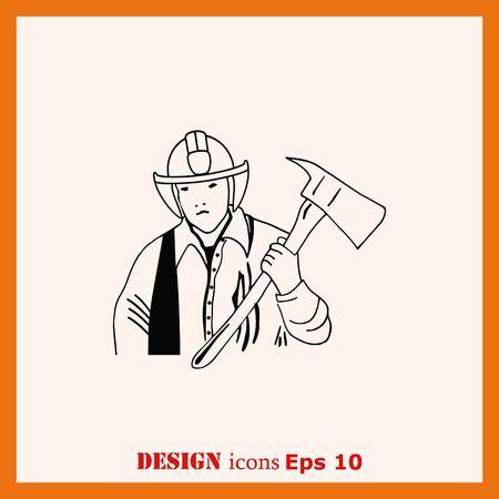 icon: Firefighter Icon, Fireman Icon.