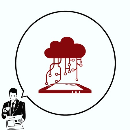 Technology innovation icon. Cloud technology, vector illustration.
