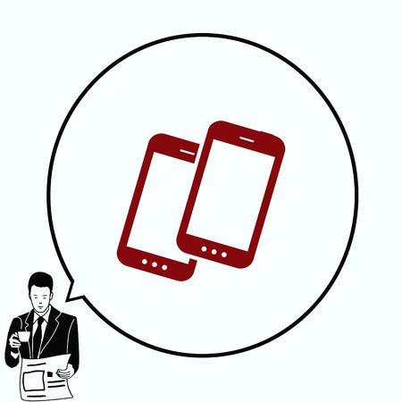 protocol: The handset, phone icon , vector illustration. Illustration