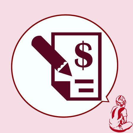 salarios: Money icon, Finance Icon, vector illustration. Flat design style. Vectores